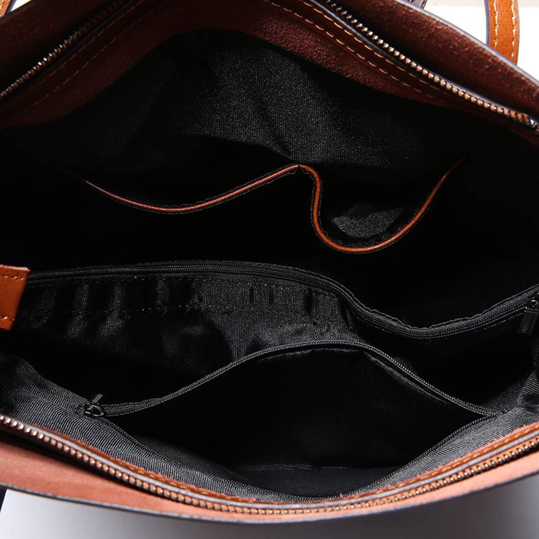 JIANZ-ryggsäck kvinnor äkta läder kvinnor topphandtag axelväska handväska tote axelväska handväska crossbody axelväska kvinnor (färg: Kaffefärg) BRUN