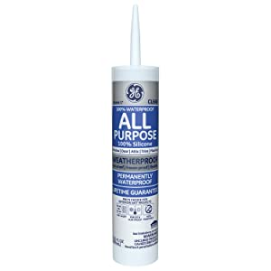 GE Silicone I All Purpose Caulk, 10.1 Oz. Tube, Clear, GE012A