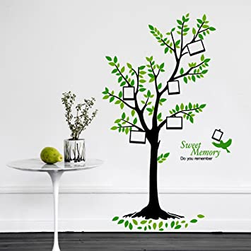walplus vinilo decorativo para pared diseo de rbol verde multicolor