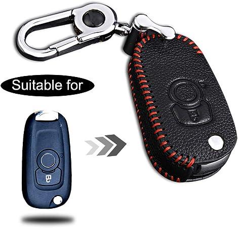 Schlüssel Hülle Leder Auto Schlüsseltasche Mit Schlüsselanhänger Für 1 Tasten Klappschlüssel Fernbedienung Autoschlüssel Rotes Nähen 1 Stück Modell J Auto