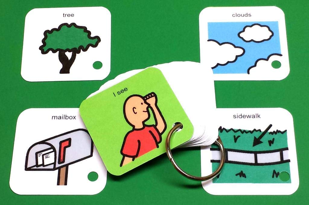 I See Autism PCS Keyring Activity ABA visual aid exercise Active Photos Visual Aid Learning Activity The Autism Whisperer