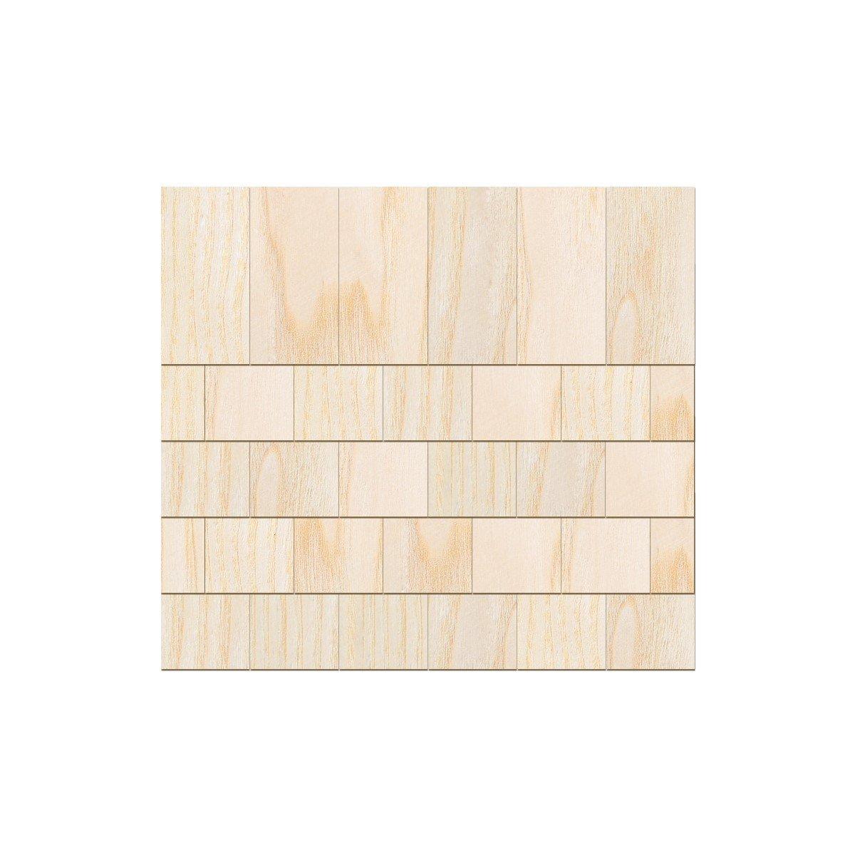In vero legno impiallacciato luminoso rettangolo chindeln–dimensioni e quantità di selezione, 100 pezzi, 15mm x 7.5mm Bütic GmbH