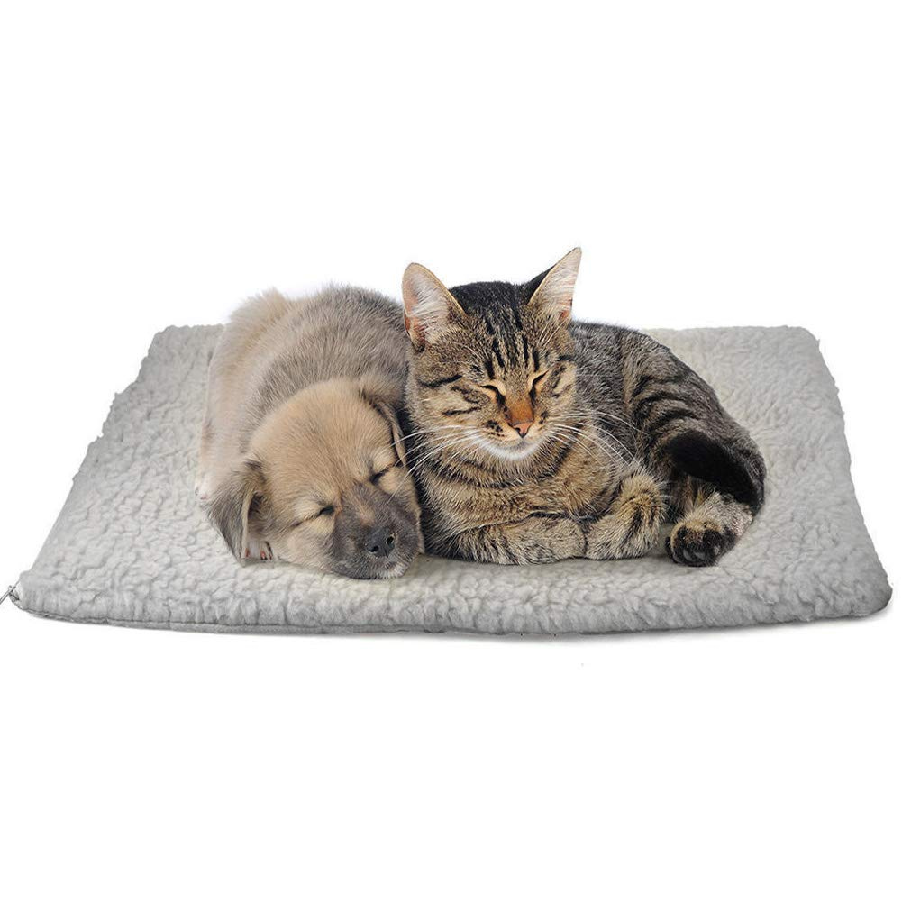 64x49cm Kennel Pads Dog Beds Self Heating Pet Pad, Washable Durable Artificial Wool Soft for Cat Dog, Warming Beds Pet Mat Cat Bed Pet Supplies Cover (Size   64x49cm)