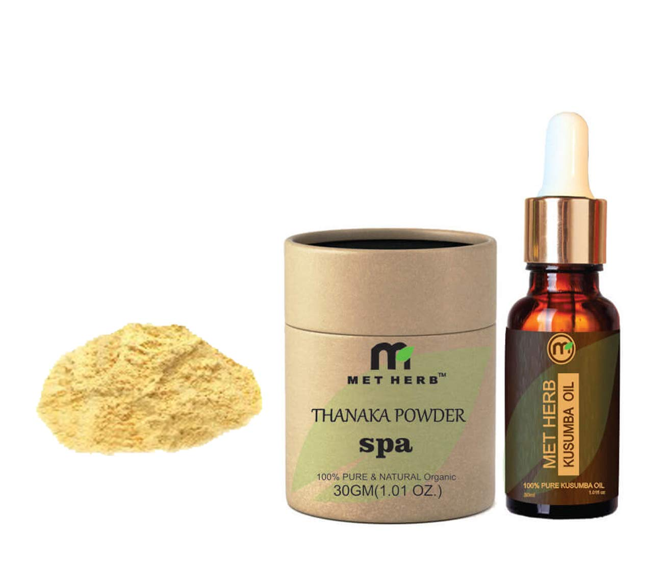Amazon Com Pure Natural Thanaka Powder 30g Kusumba Oil 30ml