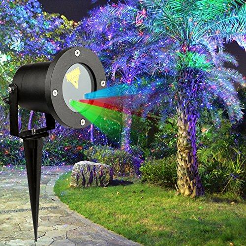 Laser Garden Light, MixMart RGB Outdoor Chistmas Laser Light, IP65 Waterproof Garden Landscape Light