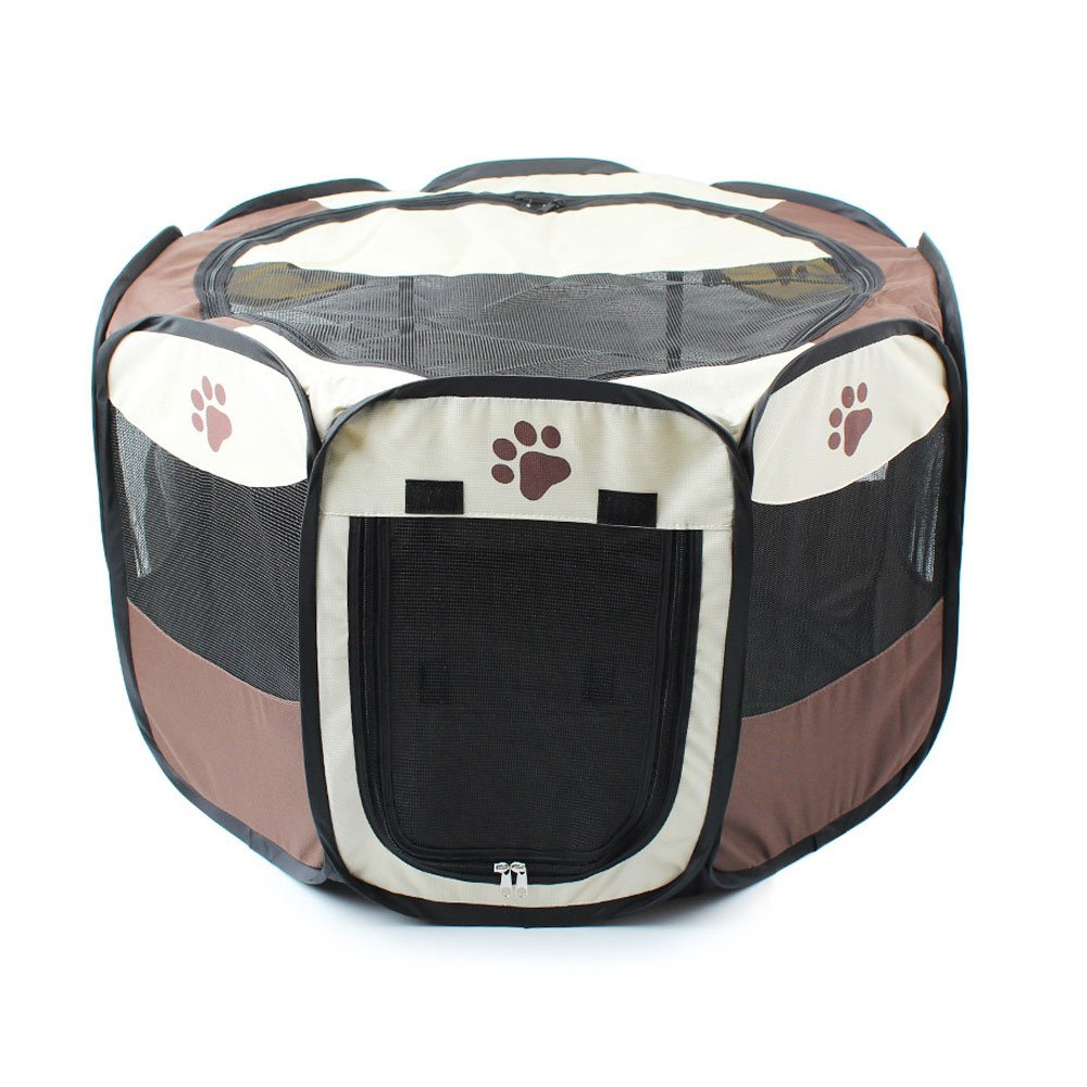 Small Pet Play Zelt Nylon faltbar Stoff für Welpen/Kaninchen, Meerschweinchen Spielen im Innenbereich Stifte Hund Laufgitter YUDODO
