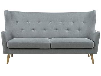 Stoffcouch Grau Couch Dreisitzer Küchensofa Sofa Retro 29IHWEDY