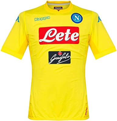 Amazon Com Kappa 2017 2018 Napoli Authentic Away Football Soccer T Shirt Jersey Clothing