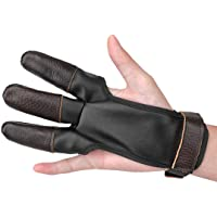 KRATARC Archery Glove Finger Protector Micro-Fiber Leather Lightweight Compact for Hunting Shooting Bow