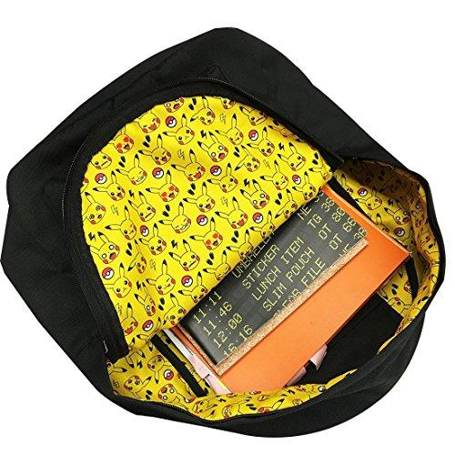 Poliestere Di Posteriore Fodera Pikachu Stoffa Pmap764 Pokemon Tasca Reticolo qv57tt