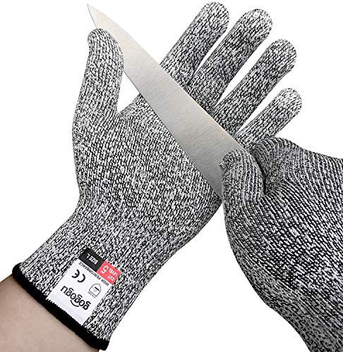 2 Pairs Cut Resistant Gloves, Anti-Cutting Protective Gloves, High Performance Level 5 Protection, Food Grade, EN388 Certified Kitchen Hand Protection Cut Proof Gloves