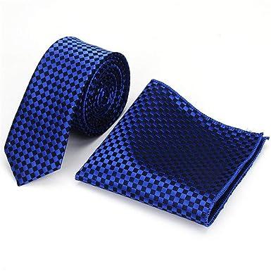 WJYX Corbata Corbata a cuadros clásica para hombres Conjunto de ...