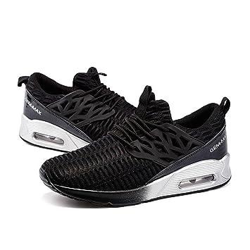 Damen / Jungen Breathable Casual Sneakers Sommer und Herbst Fashion Elastic Mesh Sportschuhe Leicht und rutschfest , black , 35