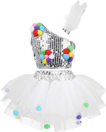Agoky Disfraces Niña Baile Jazz Ballet Conjunto Top Corto ...