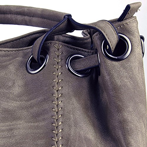 H Bags Coffee Shoulder Handbags Women PU JOYSON Crossbody 30cm Handbags Hobo 19cm 40cm Bags PU Leather W Large L Leather Ladies Light Capacity qq0rAwTB