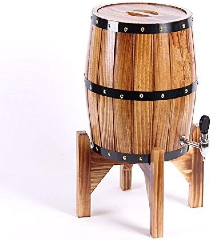 Madera Roble Barril De Vino, Madera Especial Dispensador De Barril De Vino Cubo De Almacenamiento Barriles De Cerveza Para Whisky Envejecimiento Barril Cerveza Ron Puerto,Brown
