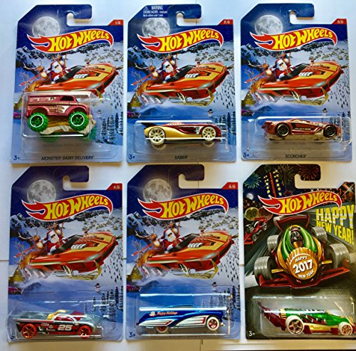 Hot wheels 2016 christmas holiday hot rods new years for 9 salon hot wheels 2016