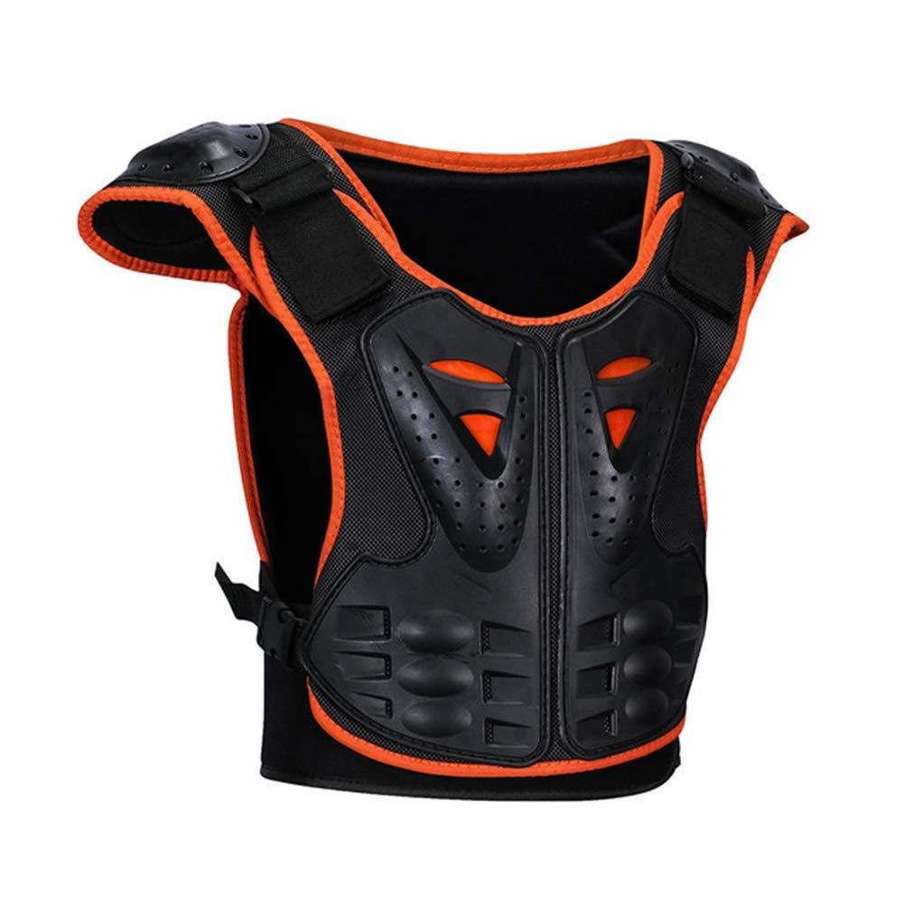 MLSice Children Anti-Fall Protective Gear Motorcycle Jacket Motocross Body Guard Vest for Cycling Skiing Riding Skateboarding Kids Sports Chest Back Spine Protector Vest