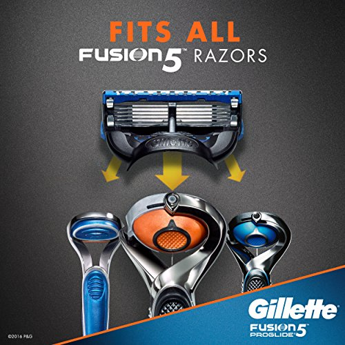 Gillette Fusion ProGlide Men's Razor Refills, 12 Mens Razors/Blades