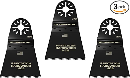 Variety 3-Pack Imperial Blades IBOAV1-3 One Fit Oscillating Tool Blades