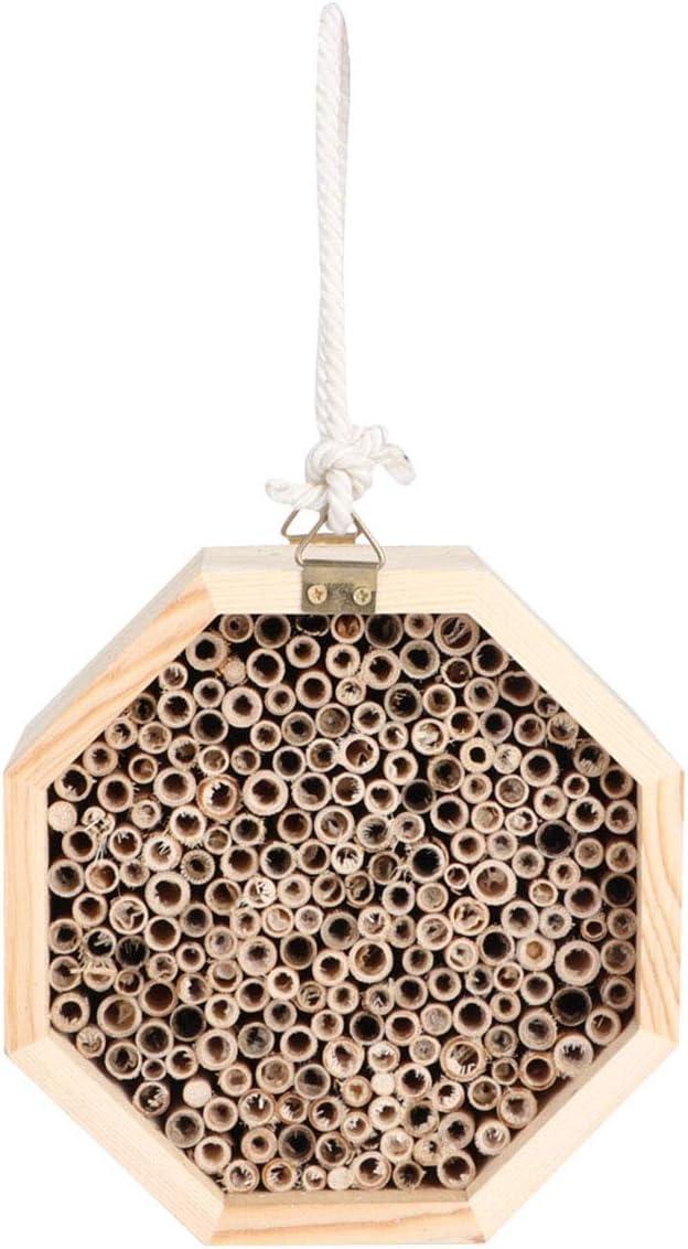 SOONHUA Casa de Abeja de Madera del Hogar del Hotel del Insecto Caja de Anidación del Hotel de La Sala de Insectos de Madera 2Pcs para La Decoración del Jardín Al Aire Libre Balcón del Patio