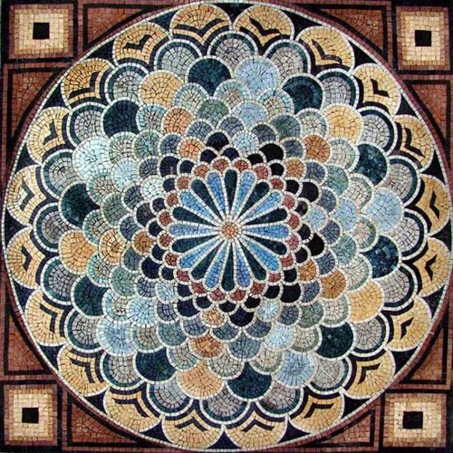 Marble Mosaic Art Tile Floor Wall Table Decor, 60