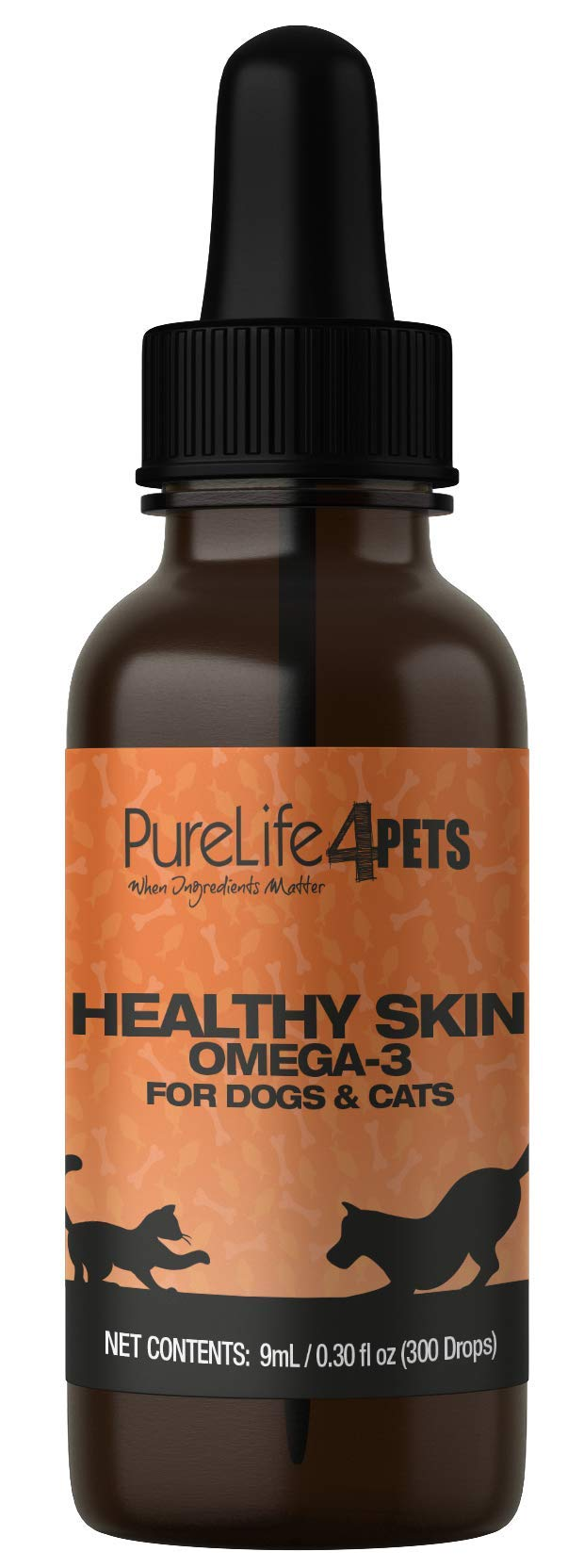 PureLife 4 Pets Healthy Skin Omega-3 for Dogs and Cats by PureLife 4PETS