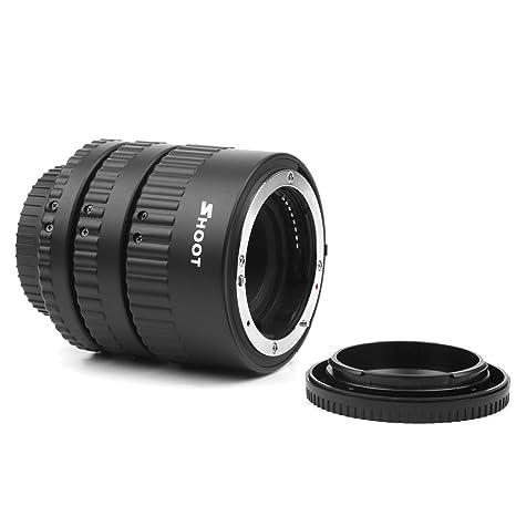 D & F AF Juego de Tubos de extensión para Nikon D80 D90 D7000 ...