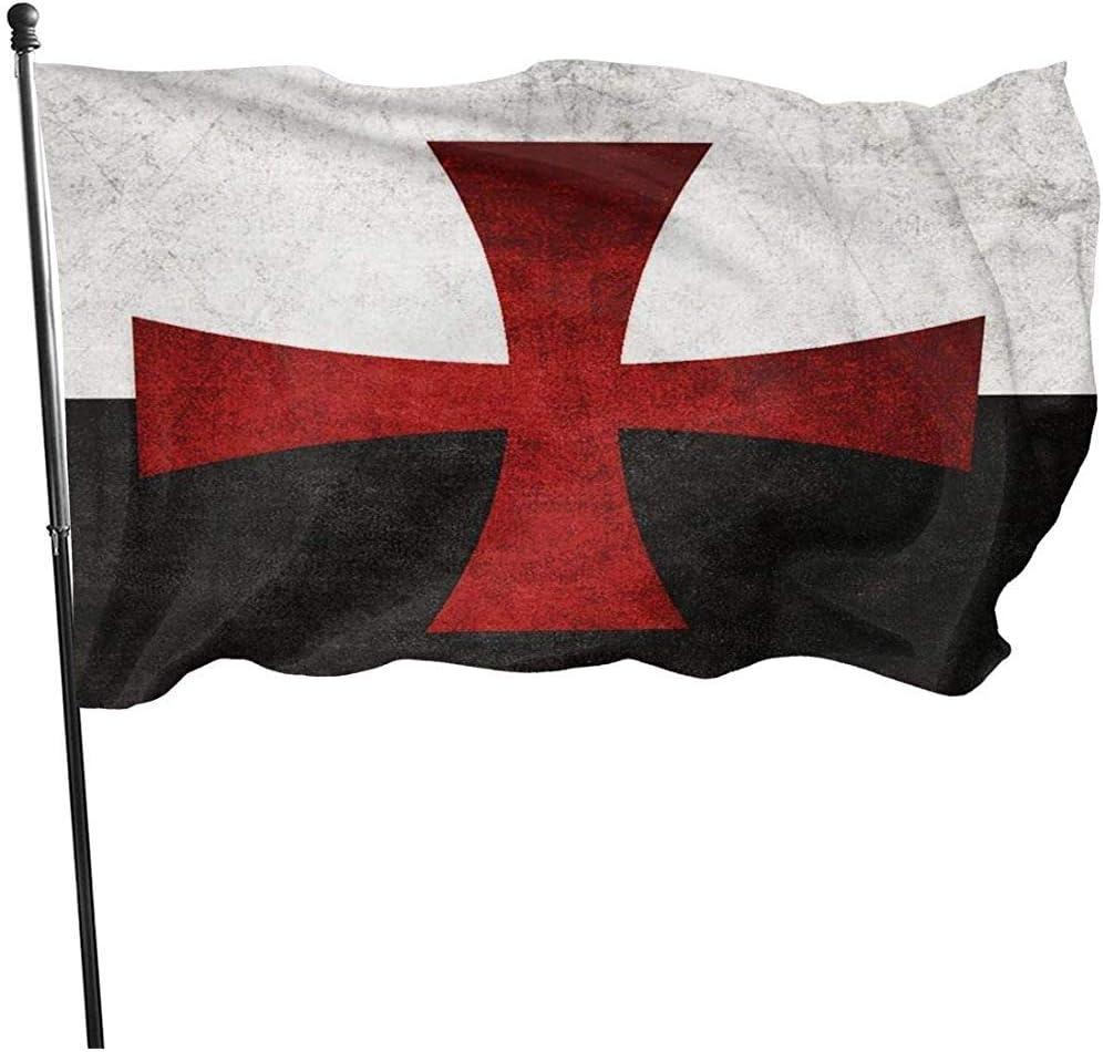 Dem Boswell Bandera de jardín Cruz de Hierro Rojo Patrón Vintage Duradero Resistente a la decoloración Bandera al Aire Libre Banderas Decorativas 180 X 120 cm