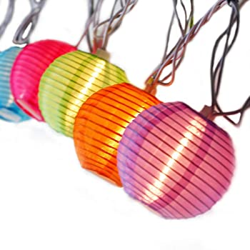 Amazon Com Multicolor Mini Lantern String Light 20