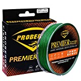 Braided Fishing Line 4 Strands Multifilament PE Superbraid Thinner Diameter Abrasion Resistant Super Power Line 300M Green 50LB For Sale