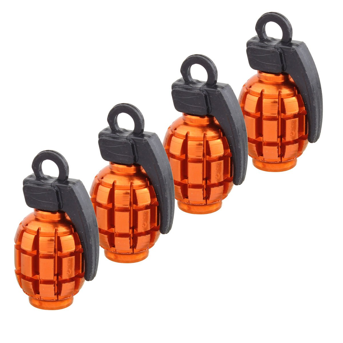 4 unids P/úrpura TOMALL Grenade Llantas Rueda V/álvula de Neum/ático Tapas Cubierta de Polvo de Aleaci/ón de Aluminio Cubierta de Polvo