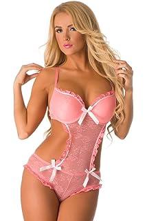 Velvet Kitten Luscious Sheer Lace Sexy Teddy Lingerie for Women 3268 ... 9826b4310