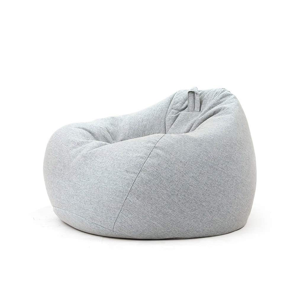 GY Bean Bag Chair, Lazy Sofa Sack, Particle Filling, Removable Cotton Linen, Suitable for Living Room Dormitory Adult, Child, 5 Colors, 3 Sizes Color Gray, Size 7080cm