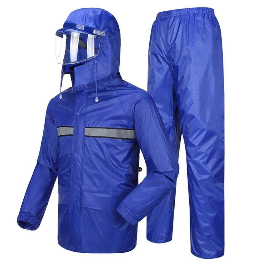 HONGYU Imperméable (veste et costume pantalon) portant un masque, moto de travail en plein air, veste imperméable à capuchon pour homme