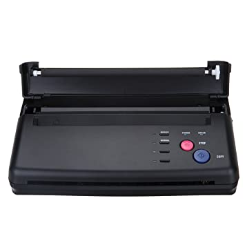Amazon.com: Black Tattoo Transfer Stencil Machine Thermal Copier ...