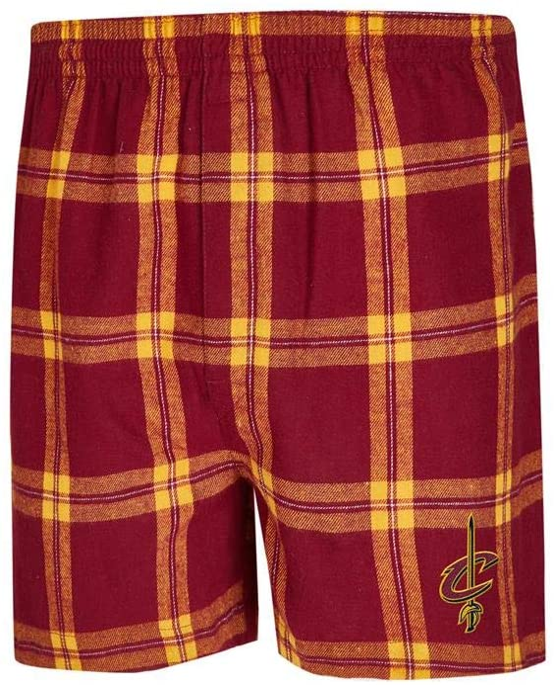 Concepts Sport Cleveland Cavaliers Mens Boxers Flannel Boxer Shorts