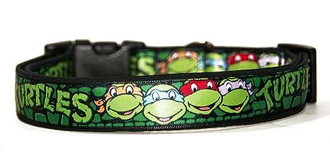 Tortugas Ninja Teenage Mutant Ninja Turtles TMNT Collar Perro Hecho A Mano Talla L Handmade Dog Collar