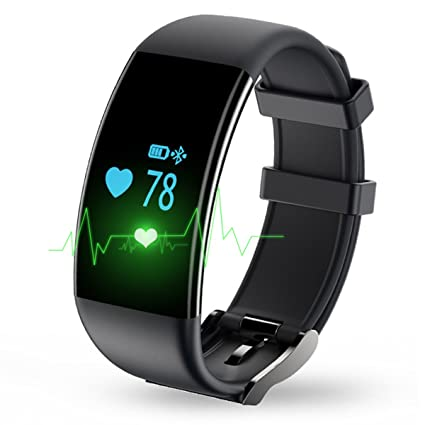 Longess Fitness Tracker, App-Enabled Bluetooth 4.0 Water Resistance Smart Watch, Sleep and Heart Rate Monitor Compatible with Android and IOS Smartphones