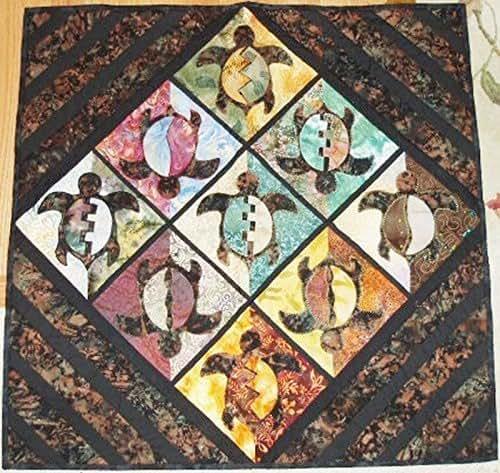 Amazon Com Batik Turtle Applique Wall Hanging Quilt