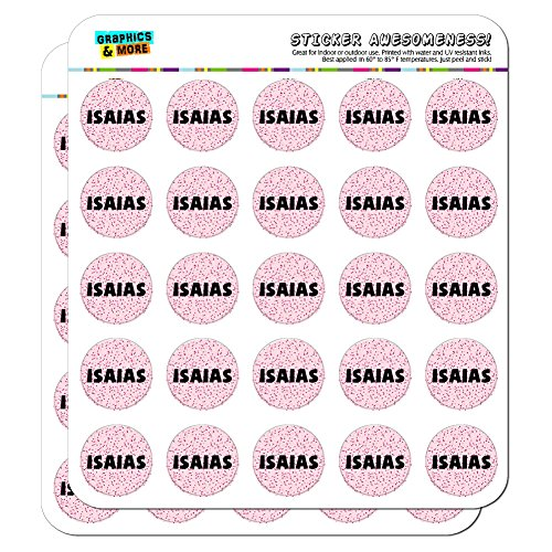 isaias-name-scrapbooking-crafting-stickers-pink-speckles-50-1-stickers