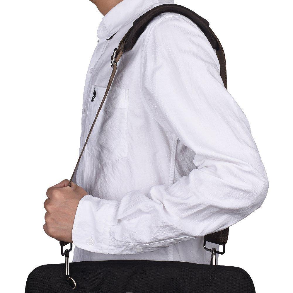 Qishare Universal Replacement Shoulder Strap Pet Carrier Strap Detachable Soft Padded Adjustable Belt with Metal Swivel Hooks (Brown,150cm)