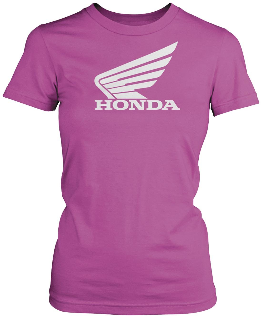 Honda Womens Big Wing Short-Sleeve T-Shirt/Tee, Pink, X-Large
