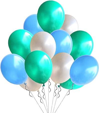 "Baby Boy 12/"" Printed Latex Balloons Blue Asst pack of 5 Hot Air Balloon"