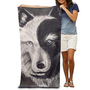 Amazoncom Yisliferunaz Yin Yang Wolf Tattoo Art Beach Towels