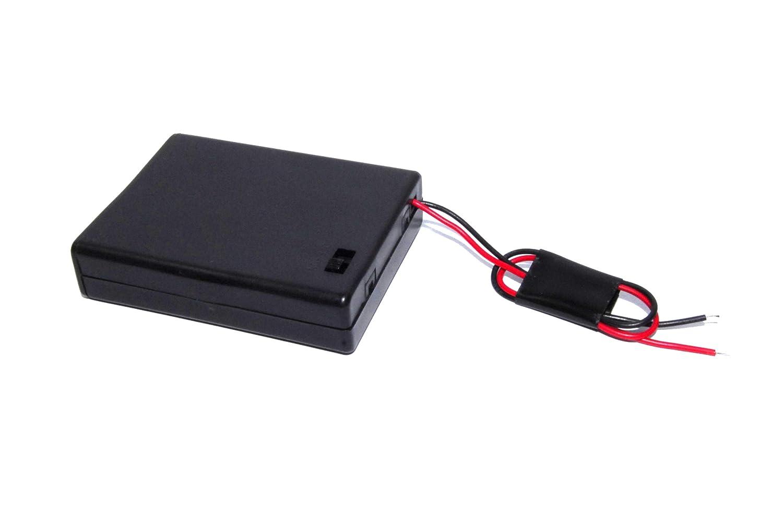 Caja de batería 4 x AAA interruptor DC 6 V Slide Arduino Shield ...