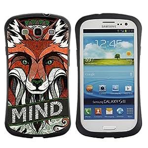 Hybrid Anti-Shock Bumper Case for Samsung Galaxy S3 / Clever Fox
