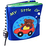 chinatera Quiet Books for Toddlers, Ultra Soft Baby Books Touch and Feel Cloth Book, Crinkle Books and Toys for Early Education for Babies
