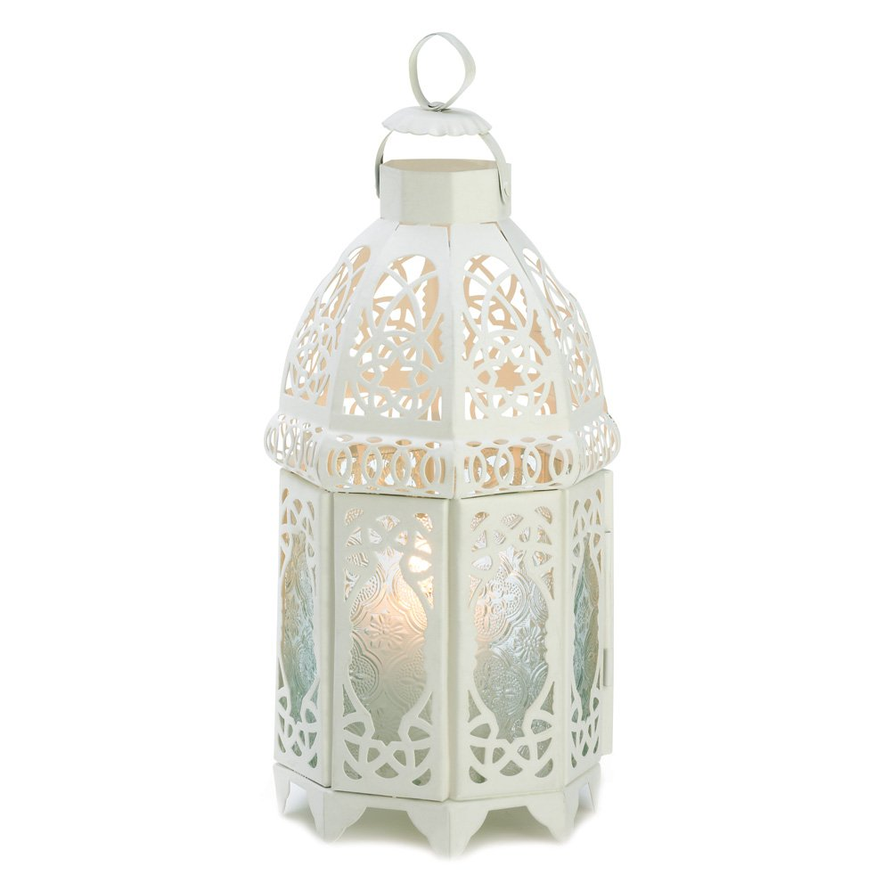 15 Wholesale White Lattice Lantern Wedding Centerpieces