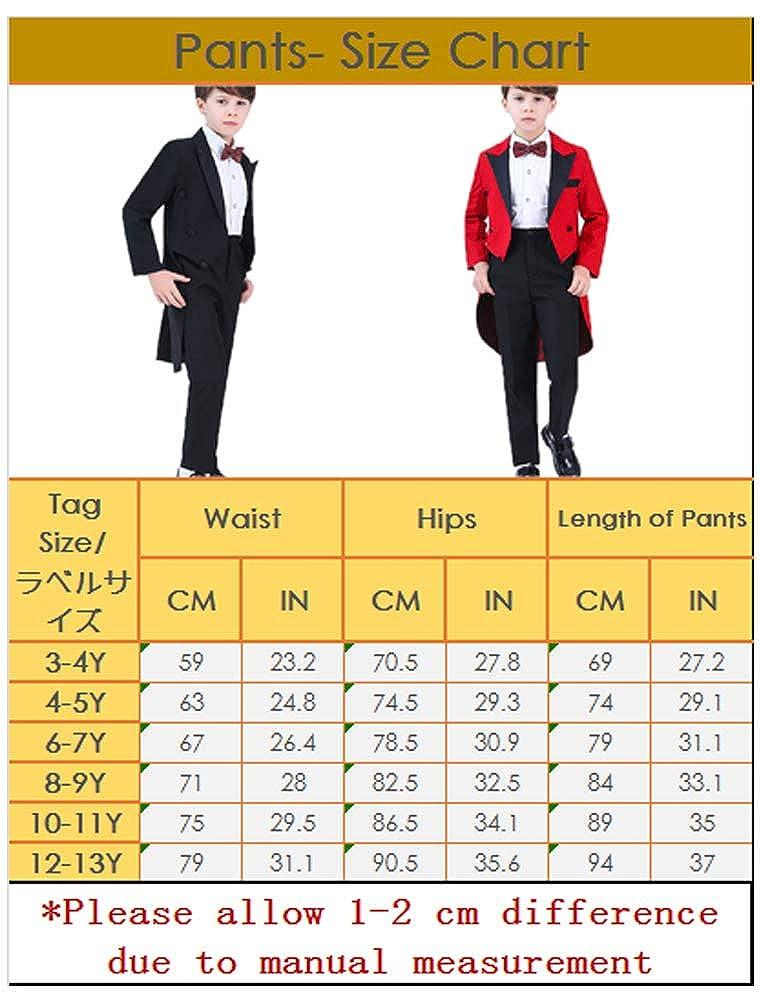 Odziezet Traje Ni/ños Esmoquin Conjunto Chaqueta Camisa Pantalones Pajarita Chaleco Slim Fit 4 Piezas